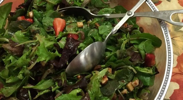 Recipe: Strawberry Spinach Salad with Cinnamon Jack Cheese